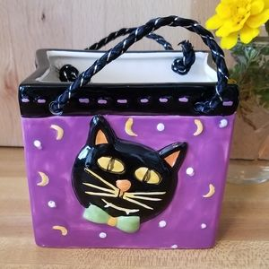 Black Cat Candy Dish